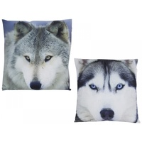 40cm Wolf Picture Cushion, Decorative Pillow Display, Made of Polyester