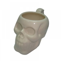 10CM Ceramic Slull Head Mug for Tea or Coffee or Hot Drinks-White