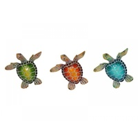 Marble Looking Resin Turtle Magnets, Three Colours Great for the Fridge / Office