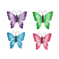 1pce 38cm Bright Butterfly Metal Wall Art Hanging