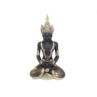 55cm Praying Thai Buddha with Gold Detail and Golden Crown