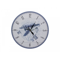 34cm Blue and White Turtle Clock Beach Theme Design, Great Detail, High Quality Design