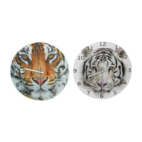 1pce 30cm Tiger Feature Wall Clock Detailed Realistic