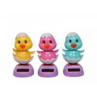 1pce 11cm Grooving Chicken in Egg Super Cute Design and Solar Powered