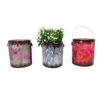 1pce 16cm Psychadelic Marble Effect Paint Pots for Planters or Candle Making