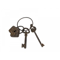 1pce Set of 24CM Ornimantal Vintage Antiqiue Style Keys and Padlock