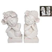 1pce 47CM Bali Buddha Garden Statue Made of Resin with Frangipani Motif