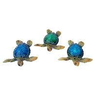 1pce 7.5cm Realistic Miniture Marble Turtle, Beach Themed Design, High Detail