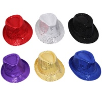 Bright Sequin Party Hat, Great for Dress ups, Six Colours, One Size Fits Most