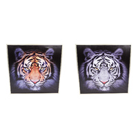 1pce 65cm Framed Tiger Feature Wall Art Décor