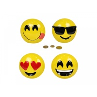 13cm Emoji Money Box, Teenagers, Emoticons, Made of Resin
