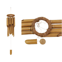 130cm Long Bamboo Wind Chime with Rope Feature Top