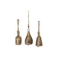 1pce 15cm Brass Designer Cow Bell, Copper Style Look