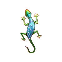 80cm Metallic Colourful Lizard Wall Art Décor