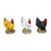 1x 13cm Cute Resin Hen with Two Chicks Underneath it, Home Deco