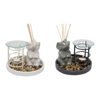 17cm Oil Burner & Diffuser Set with Elephant Zen Feature Set