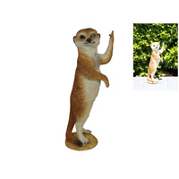 22cm Rude Finger Meerkat Figurine, Garden and Home Funny Cheeky Gift