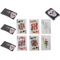 Full Deck of Playing Cards with Candy Skull Design, Day of the Dead Style
