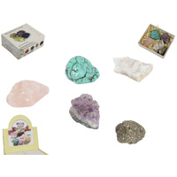 Gift Box of 5 Mineral Rock Crystals, Tumbled Polished Gemstones