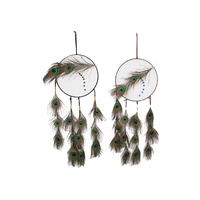 1pce 22cm Peacock Feathered Dream Catcher Unique Style