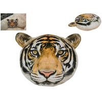 1pce 30cm Tiger Feature Plush Cushion Display Pillow Décor