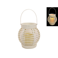 1pce Hamptons Style White Lantern Decor Candle Holder