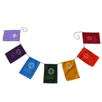 150CM Chakra Bunting Flag Set Bight Colours with Different Coloured Flags great for Yoga