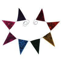 200cm Tropical Party Bunting in Bright Different Coloured Flags Fabric