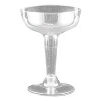 5pce x Plastic Cocktail Cups - 110ml. Clear. Excellent for Parties & Birthdays.
