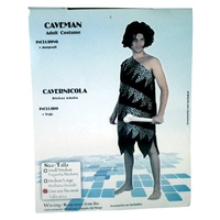 1pce x Caveman Costume For Adults. One Size Fits Most Sizes.