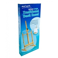 Mont Marte Large Traditional Desk Easel, Hold up to 75cm Canvas