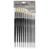 Mont Marte Silver Series Artist Brushes 12pce Round 1-12