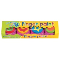 Mont Marte Kids Colour Finger Paints With Stamp 4pce