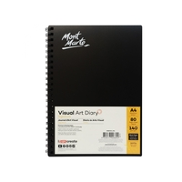 Mont Mart Visual Art Diary Black 140gsm A4