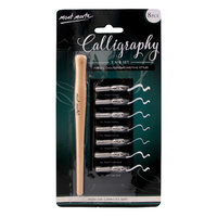 Mont Marte 7 Nib Calligraphy Set With Wooden Handle