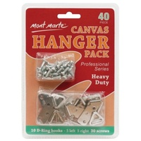 Mont Marte Canvas Hanger Pack Large Heavy Duty 40pce