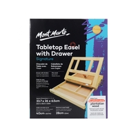Mont Marte Pine Table Easel with Drawer for Artists