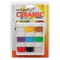 Mont Marte Ceramic Paint 8x10ml & 10ml Gloss Medium
