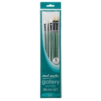 Mont Marte Gallery Series Brush Set Oils 5pce