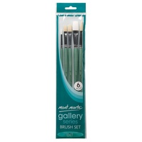 Mont Marte Gallery Series Brush Set Oils 6pce