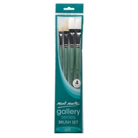 Mont Marte Gallery Series Brush Set Oils 4pce