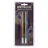 Mont Marte Metallic Charcoal Pencils 2pce
