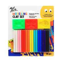 Mont Marte Kids Kids Colour Modelling Clay Set w/Moulds 21pce