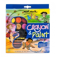 Mont Marte Kids Crayon & Paint Set 26pce