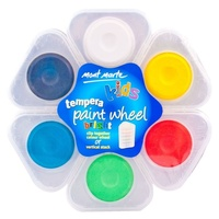 Mont Marte Tempera Paint Wheel 6pce - BRIGHT Watercolour