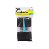 Mont Marte Foam Hobby Brush 100mm 4pce Poly Bag