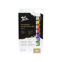 Mont Marte Dimension Acrylic Paint Intro Set 8pce x 18ml