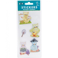 Mont Marte Scrapbooking Stickers - Handmade Minis Activity Owls 5pce For Scrapbook Craft