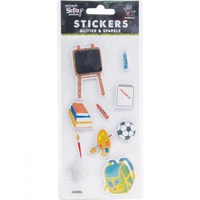 Mont Marte Scrapbooking Stickers - Handmade Back to School 10pce For Scrapbook Craft