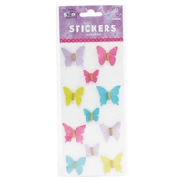Mont Marte Scrapbooking Stickers - Butterflies French Carnival 11pce For Scrapbook Craft